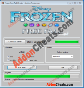 Frozen Free Fall Cheats Unlock All Items